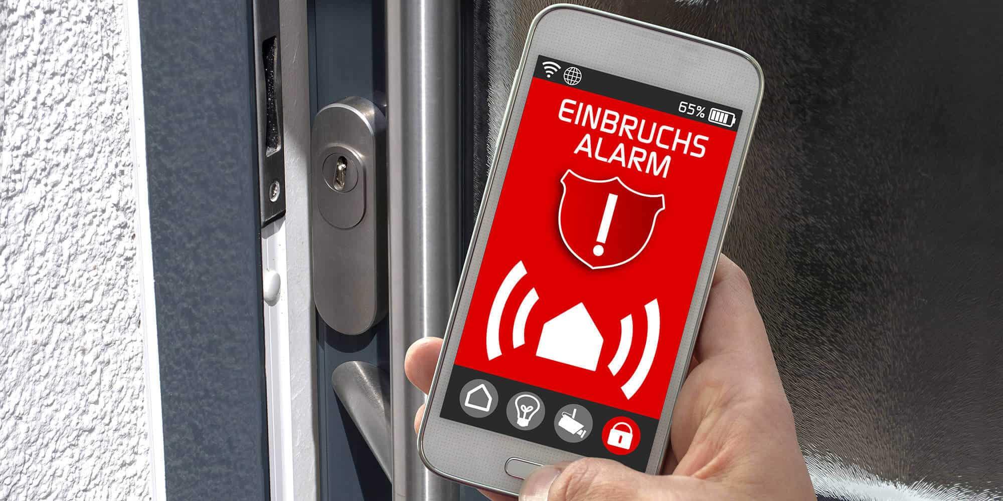 KNX Fenster Sicherung am Handy